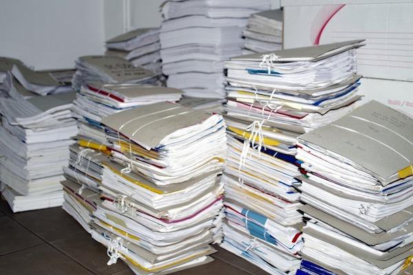 Burocracia e documentos desnecessários