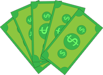 Notas de dinheiro representando os custos do projeto